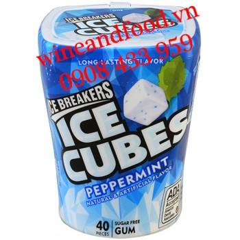 Kẹo Sing Gum Ice Cube Ice Breakers bạc hà hũ 40 viên không đường