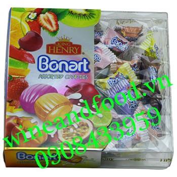 Kẹo trái cây Bonart King Henry hộp vuông 250g