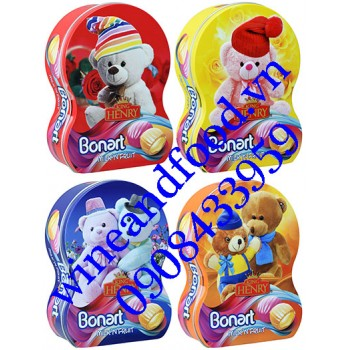 Kẹo trái cây Bonart Milk'n Fruit King Henry Gấu 250g