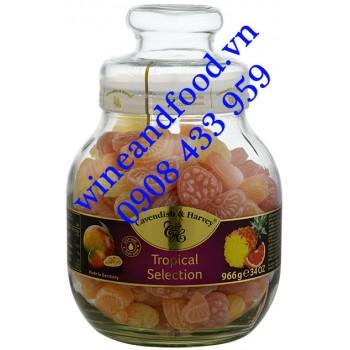 Kẹo trái cây Cavendish Harvey Tropical Selection hũ 966g