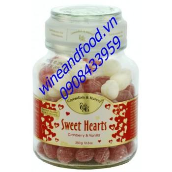 Kẹo trái cây cranberry vani Sweet Hearts 350g