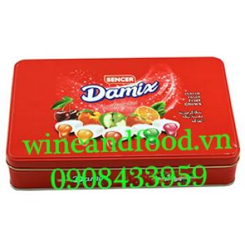 Kẹo trái cây Damix Sencer hộp thiếc 250g