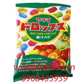 Kẹo trái cây Sakuma Drops xanh 120g