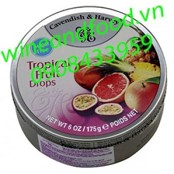 Kẹo trái cây Tropical Cavendish & Harvey không đường 175g