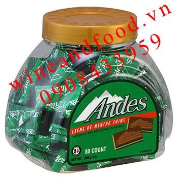 Socola Bạc Hà Andes Cream de Menthe Thins 380g