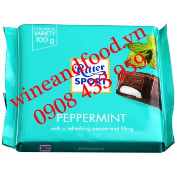 Socola Ritter Sport Bạc Hà Peppermint 100g