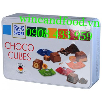 Socola Choco Cubes Ritter Sport hộp thiếc 192g