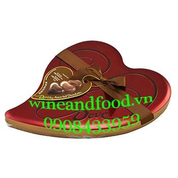 Socola Dove nấm Truffle hình trái tim 184g