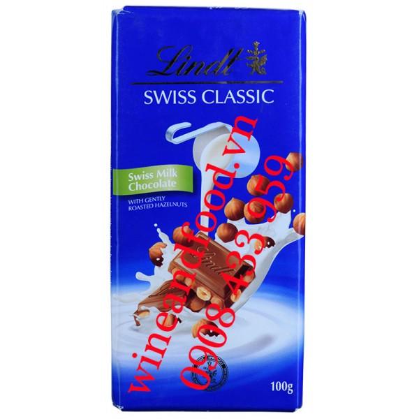 Socola sữa Swiss Classic Lindt 100g