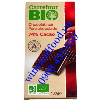 Socola đen 74% Bio Carrefour 100g