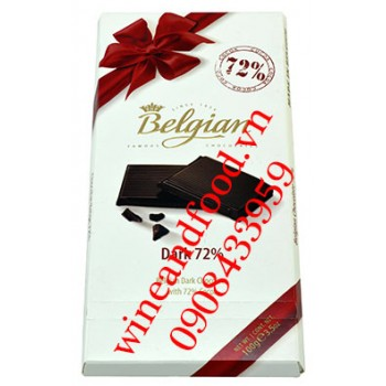 Socola đen Belgian 72% thanh 100g