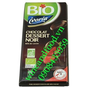 Socola đen dâu Dessert Ivoria Bio 200g