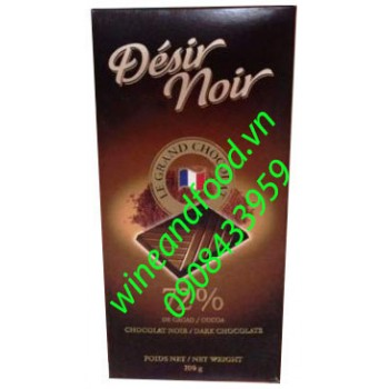 Socola đen Desir Noir 72% 100g