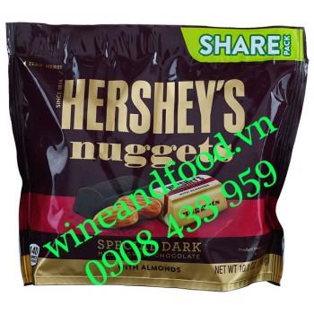 Socola đen Hạnh Nhân Hershey's Nuggets Almonds Share Pack 286g