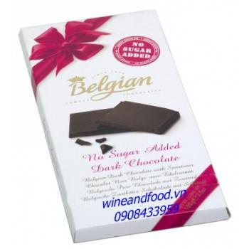 Socola đen không đường Belgian 100g