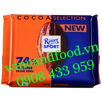 Socola Ritter Sport Cocoa Selection 74% Smooth 100g