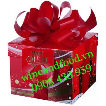 Socola Mon Cheri Ferrero Geschenk box hộp vuông nơ 200g