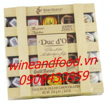 Socola rượu hộp gỗ Duc d'O 250g