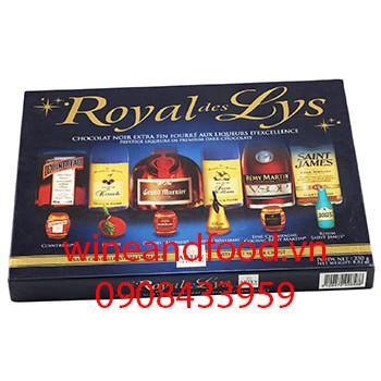 Socola rượu Royal Des Lys 250g