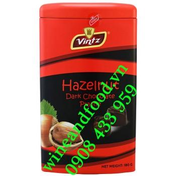 Socola đen nhân kem Hạt Dẻ Vintz 180g