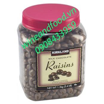 Socola sữa nhân nho Kirkland 1kg5