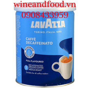 Cà phê bột Lavazza Decaffeinato lon 250g