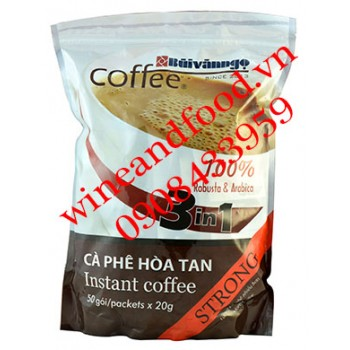 Cà phê Bùi Văn Ngọ hòa tan 3in1 Strong 1kg