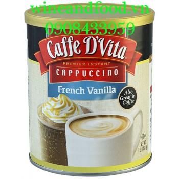Cà phê Caffe D'vita Cappuccino French Vanilla 453g