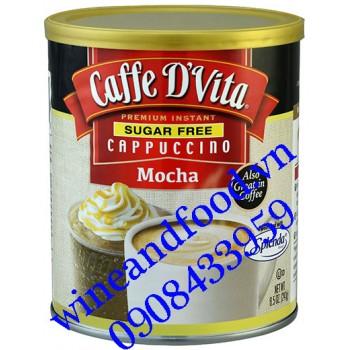 Cà phê Cappuccino Mocha Caffe D'vita không đường 241g