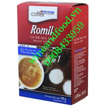 Cà phê hòa tan Romil Bùi Văn Ngọ 3 in 1 192g