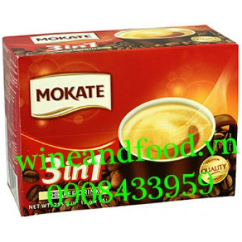 Cà phê Mokate 3in1 Coffee Drink hộp 255g