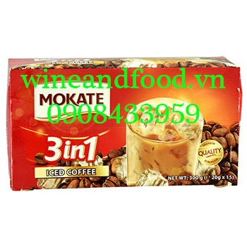Cà phê Mokate 3in1 Iced Coffee 300g