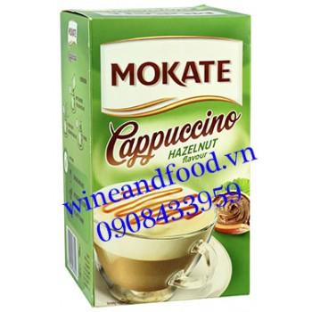 Cà phê Mokate Cappuccino hazelnut 144g