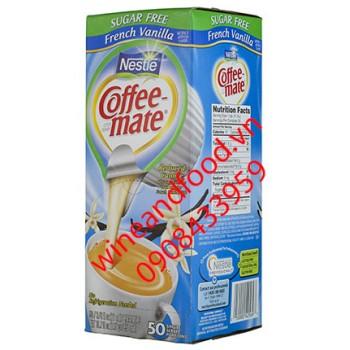 Kem pha cà phê Coffee Mate Nestle vanilla hộp 50 hũ