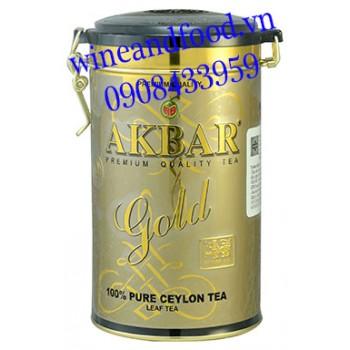 Trà Akbar Gold hộp thiếc 225g