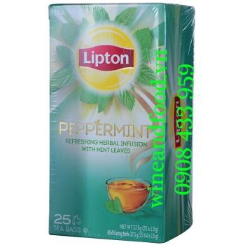 Trà Bạc Hà Peppermint Lipton túi lọc hộp 25g