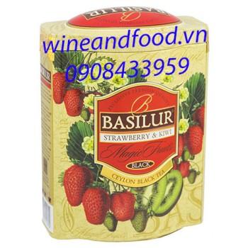 Trà Basilur Magic Fruits dâu kiwi ht 100g