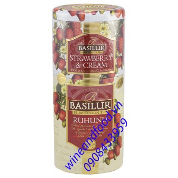 Trà Basilur strawberry cream Ruhunu 125g