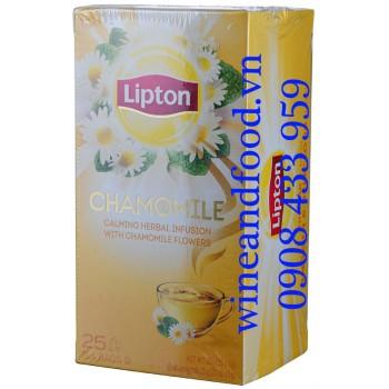 Trà hoa Cúc Chamomile Lipton túi lọc hộp 25g