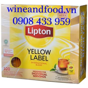 Trà Lipton nhãn vàng Yellow Label hộp 100 gói
