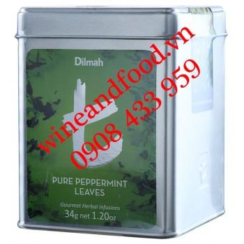 Trà Pure Peppermint Leaves Dilmah hộp thiếc 34g