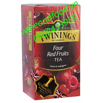 Trà Twinings Four Red Fruits túi lọc 50g