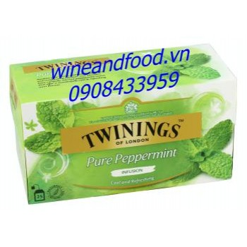 Trà Twinings pure peppermint hộp 50g