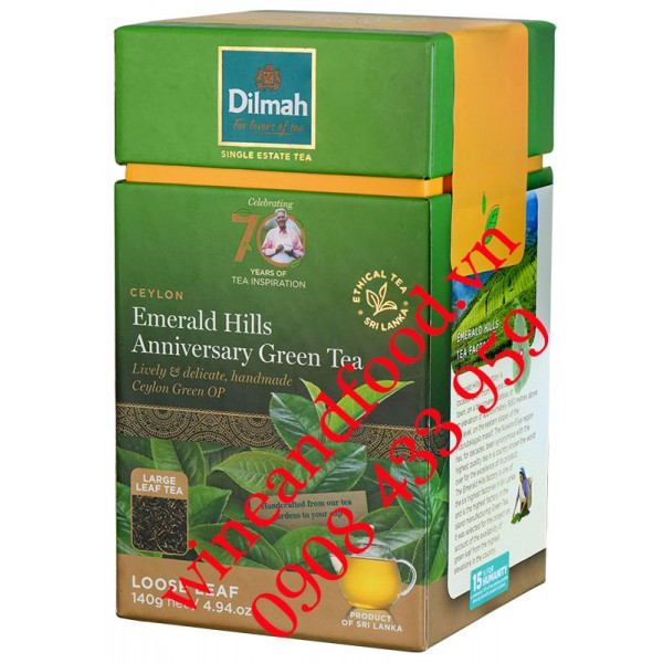 Trà xanh Dilmah Loose Leaf Emerald Hills Anniverary 140g
