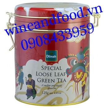 Trà xanh Special Loose Leaf Dilmah hộp thiếc 125g