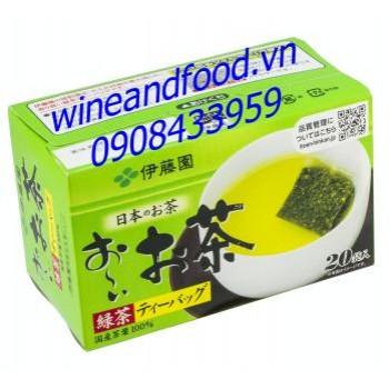 Trà xanh túi lọc Nhật Bản hộp 20 gói