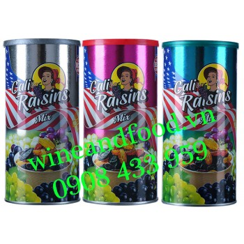 Nho khô hỗn hợp Cali Raisins Mix hộp 250g