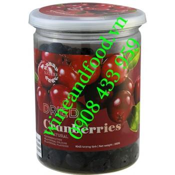 Trái Nam Việt Quất Cranberry khô Only Nature hũ 250g
