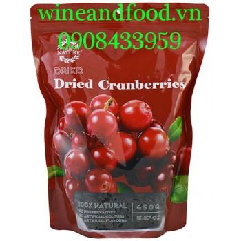 Trái Nam Việt Quất Cranberry khô Only Nature 450g