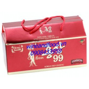 Hồng sâm nước 6 tuổi Samwon hộp 10 chai